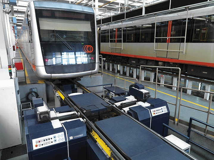 Ferrocarril maquinaria para el mantenimiento DANOBAT