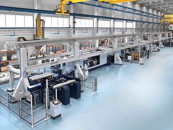 Eisenbahnbau anlagen zur Herstellung von Rädern und Achsen DANOBAT