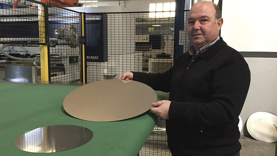 Vollrath Pujadas Automatische Laserschnitt-Lösung direkt vom Coil für die Herstellung von Scheiben für Kochgeschirr aus Edelstahl und Aluminium 2