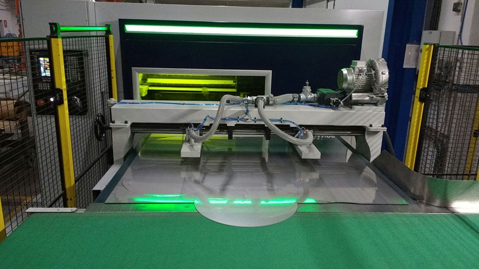 Coil fed laser LB machine for disc cutting for cookware industry