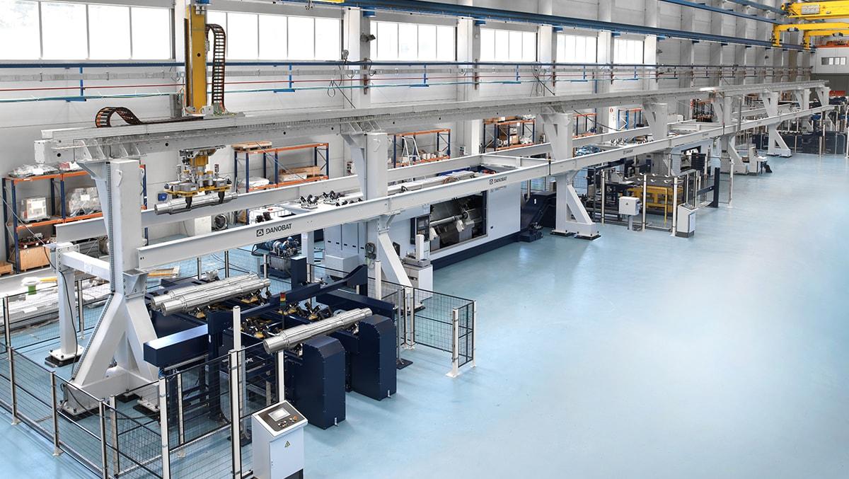 Wheels and axles manufacturing equipment DANOBAT