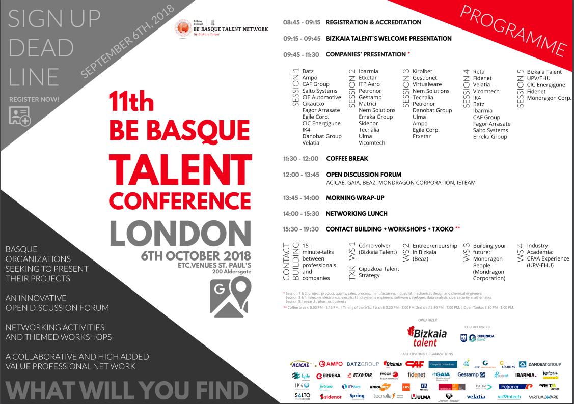 DANOBATGROUP presentará en Londres su oferta de desarrollo profesional