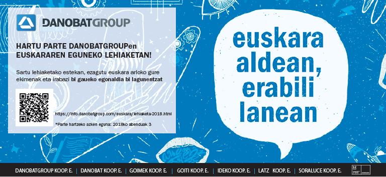 DANOBATGROUP con motivo del día del euskera ha puesto en marcha un concurso