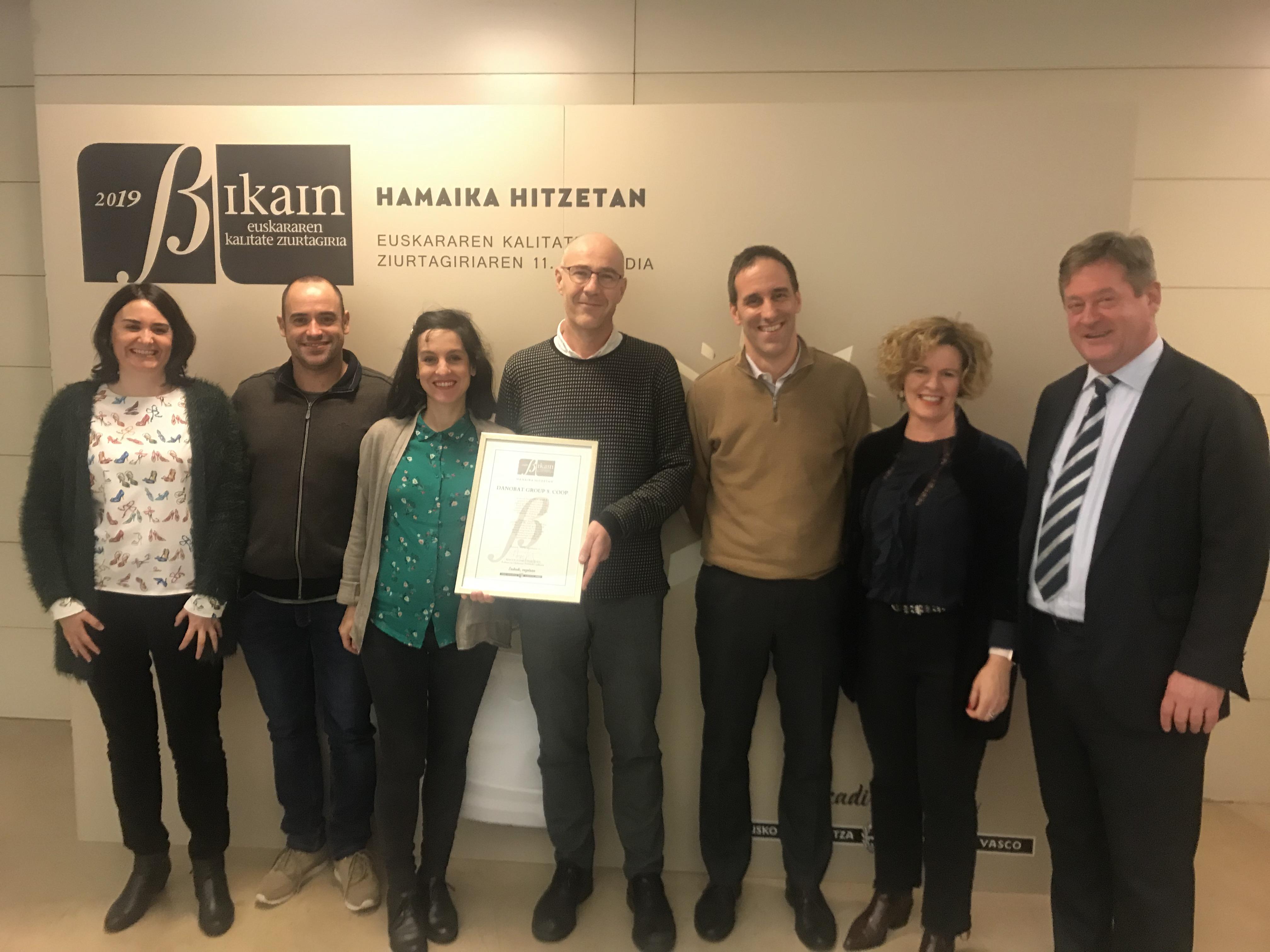 Danobatgroup ha conseguido el Certificado de Calidad en la Gestión Lingüística BIKAIN de plata