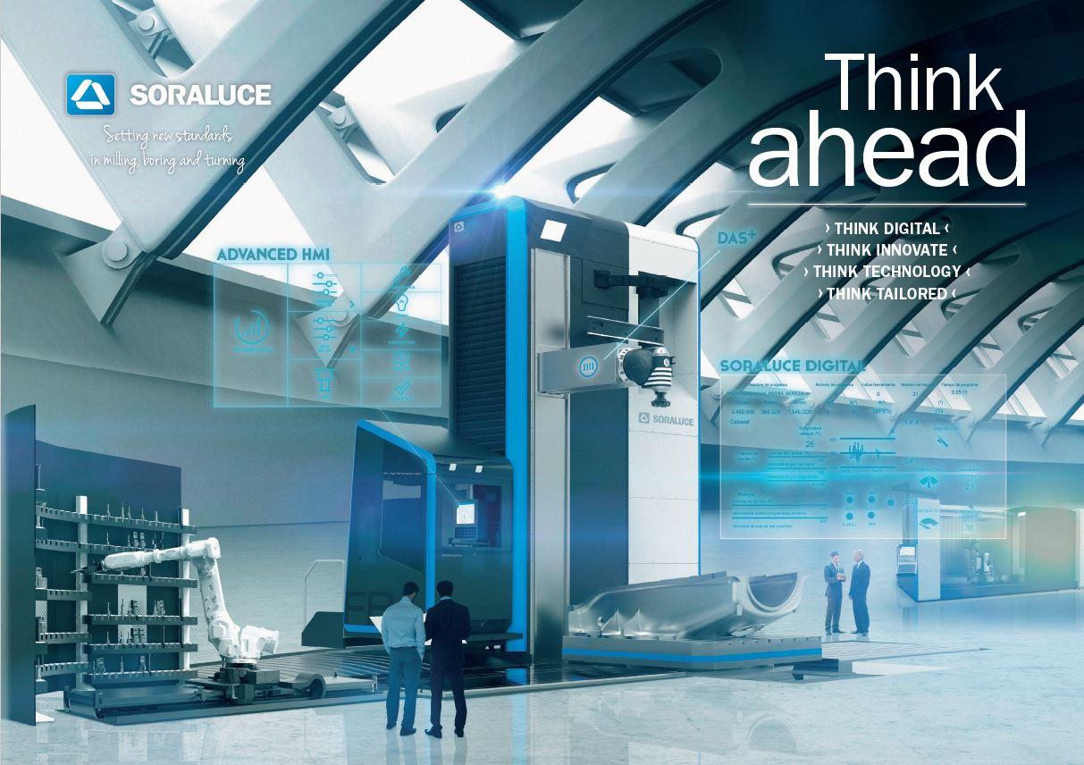 Think ahead: El entorno digital en fresado, mandrinado y torneado, la visión de futuro de SORALUCE