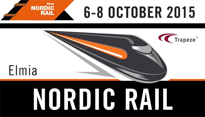 ELMIA NORDIC RAIL TRADE FAIR from 6 to 8 October