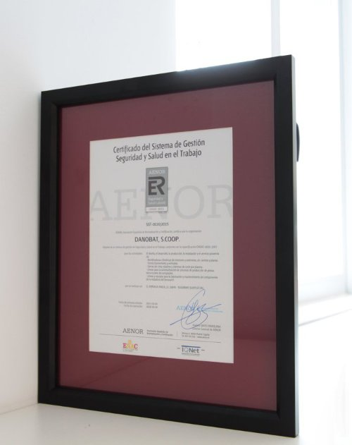 Certificate for Safety and Health at Work