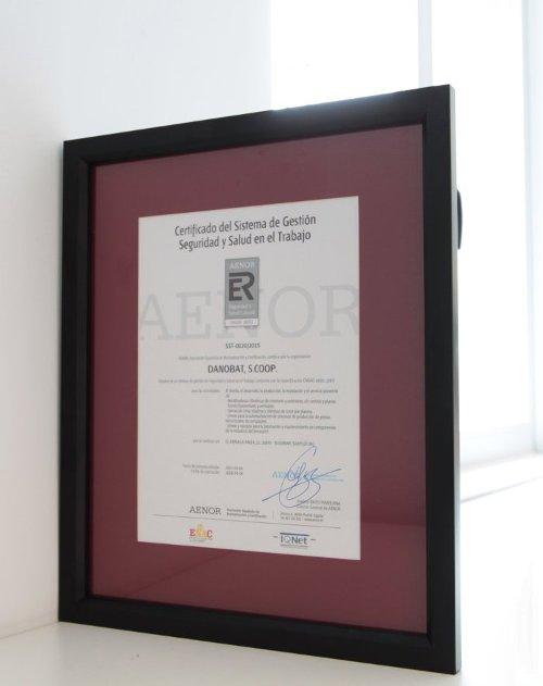 Certificado de Seguridad y Salud en el Trabajo