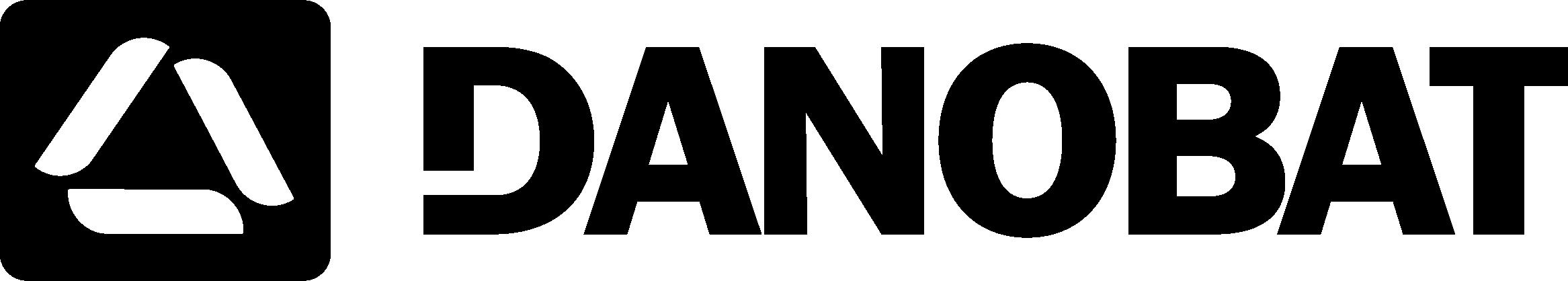 Черно-белый логотип DANOBAT