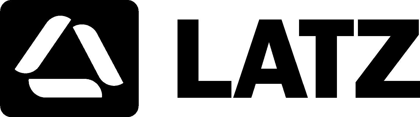 Черно-белый логотип LATZ
