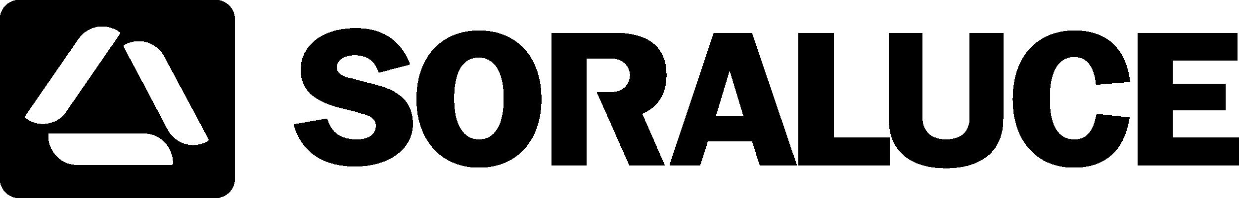 Черно-белый логотип SORALUCE