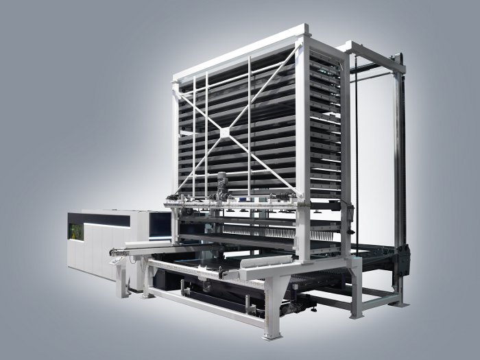 Máquina de corte por láser de fibra DANOBAT con almacén automático