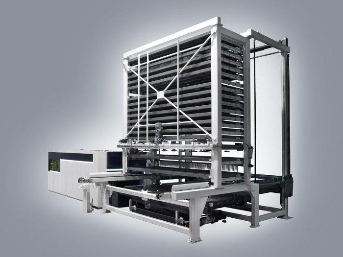 Zuntzezko laser bidezko ebaketak egiteko makina DANOBAT biltegiratzeko sistemarekin