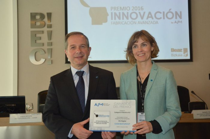 DANOBATGROUP has been given the Award for Innovation in Advanced Manufacturing Technologies at the Spanish Machine Tool Biennial BIEMH 2016