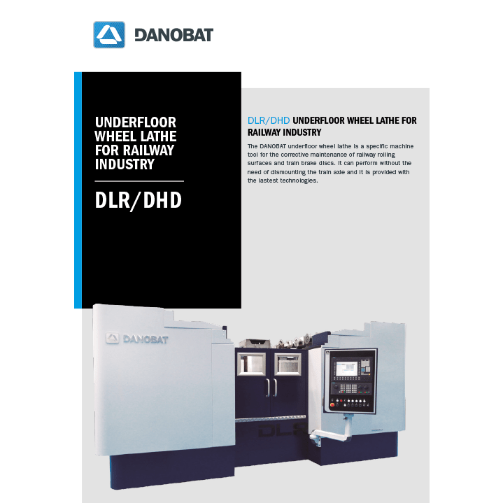 DLR-DHD underfloor wheel lathe machine
