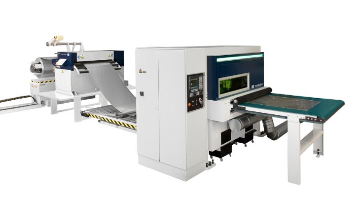 New coil fed fiber laser cutting system