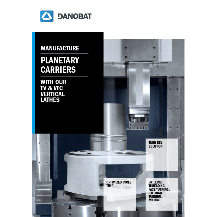 Planetary carrier vertical-turning machine DANOBAT TV-VTC