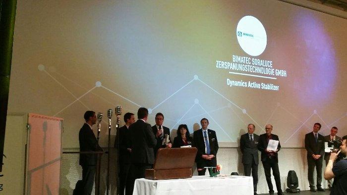 SORALUCE obtiene el premio BEST OF INDUSTRY AWARD 2015 en la categoría «arranque de viruta»
