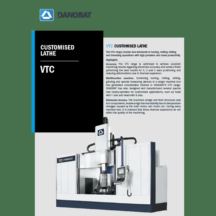 Разработанный под заказ токарный станок серии VTC