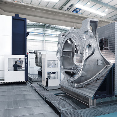 FR-FX-FXR Pendulum machining of wind power nacelles