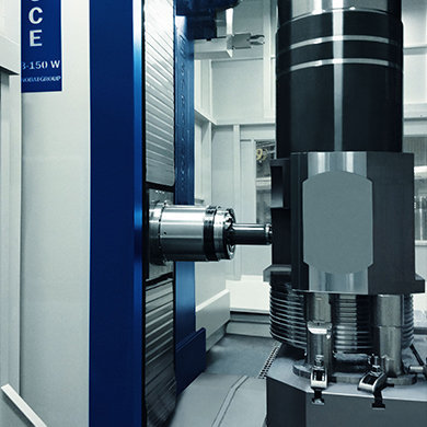 Efficient multi-face machining of large sized workpieces