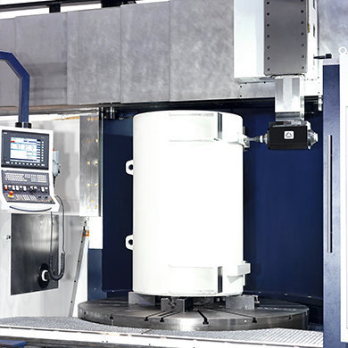 VTC Drehen, Bohren und Fräsen von Generatorgehäusen SORALUCE