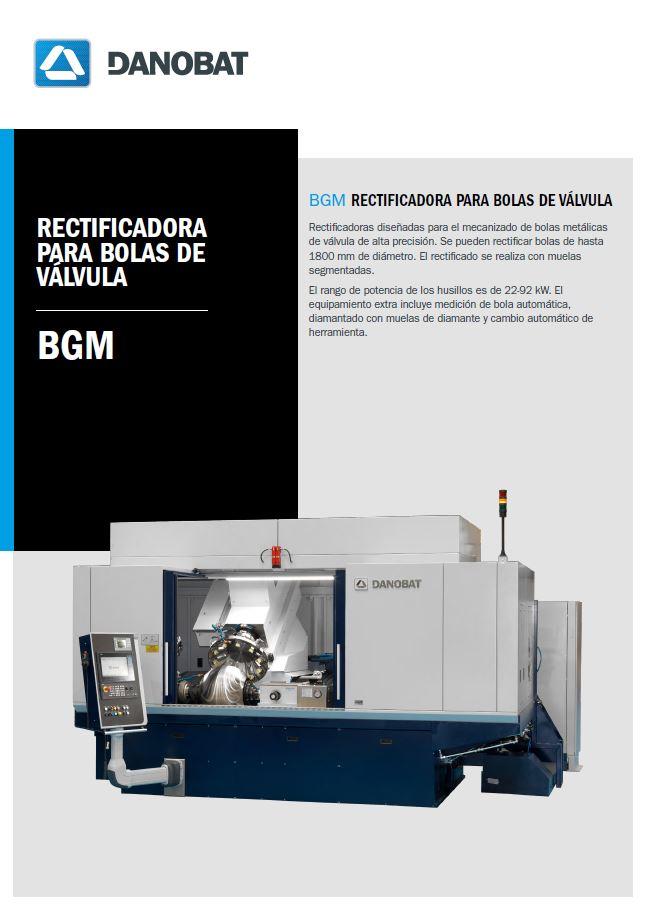BGM rectificadora para bolas de válvula DANOBAT