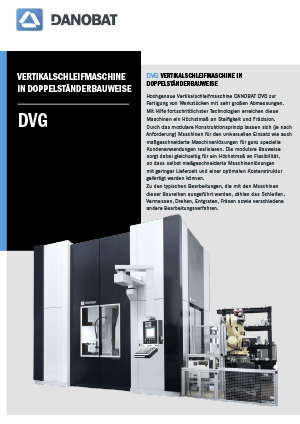 DVG hochpräzisions vertikalschleifmaschinen DANOBAT