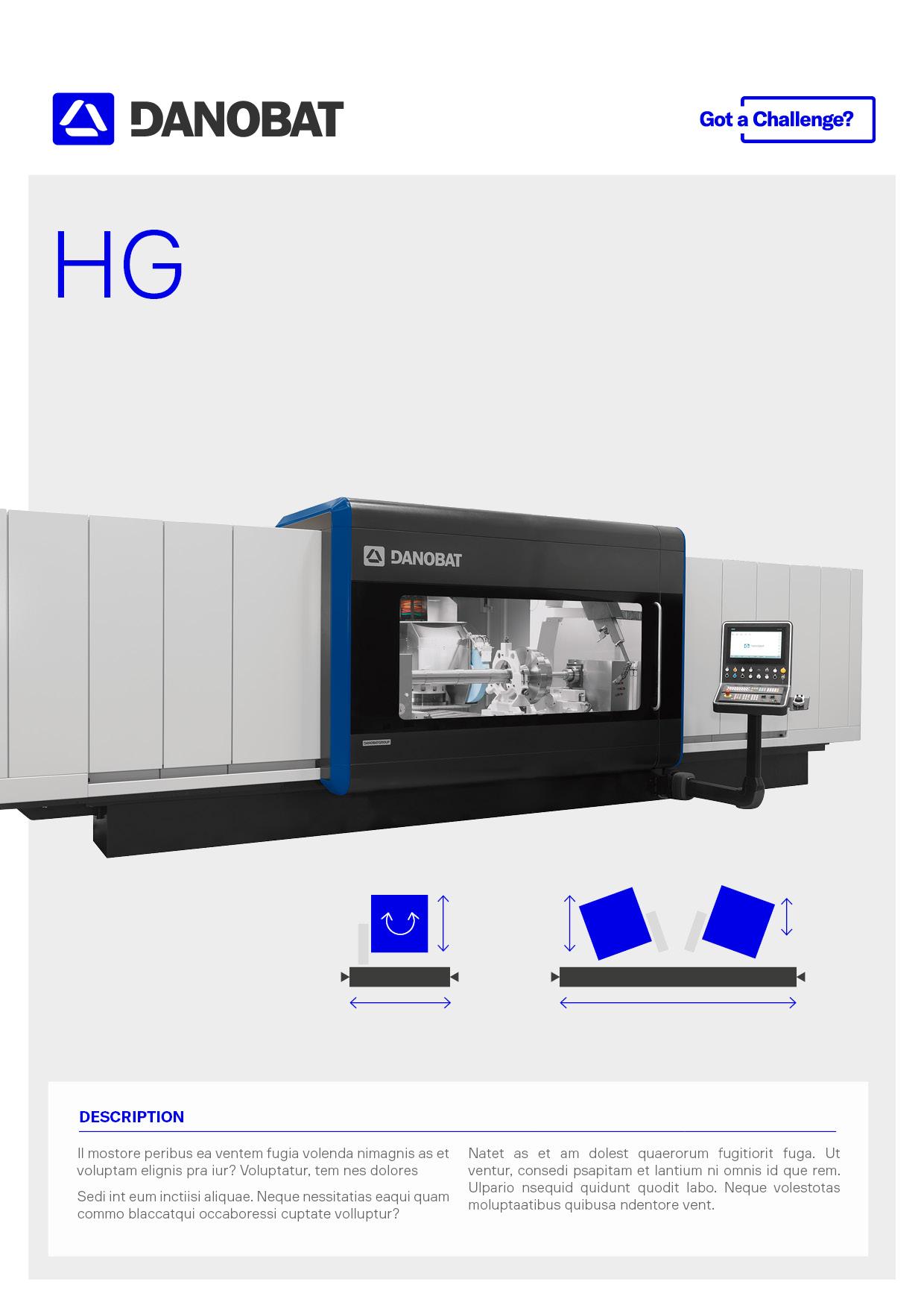 Universal-Schleifmaschine für schwere Bauteile