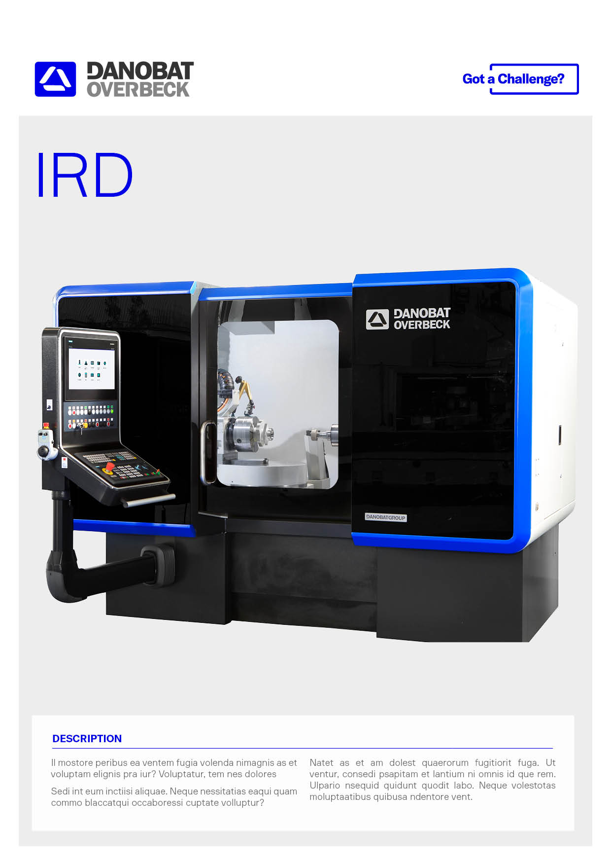 Internal, external and radius grinding machine