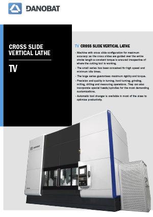 TV Vertical lathe machine DANOBAT